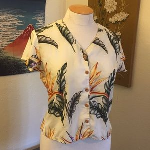 Vintage Hawaiian shirt cropped S